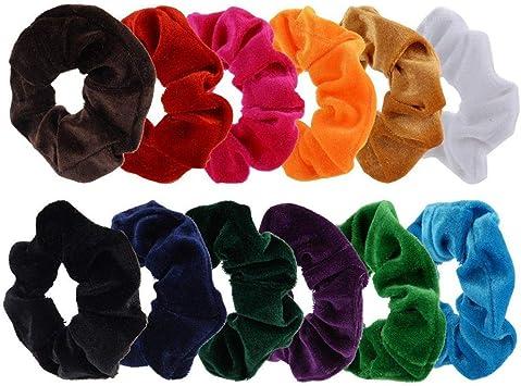 Horquillas Adornos Para El Pelo Diademas 12 Pack Hair Scrunchies ...