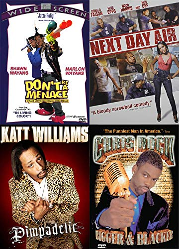 (Hood Comedy 4 Pack: Don't Be A Menace In South Central While Drinking Juice In The Hood & Chris Rock Bigger + Blacker & Next Day Air & Katt Williams Pimpadelic (4 DVD Bundle))