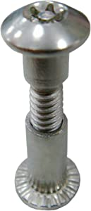 Chicago Screws Barrel Bolt Binding Post 10 Pack Truss Washer Head Stud Screw Sex Screws Sex Bolts Screw Bolts Binder Repair Nut Button Furniture and Craft Super-Deals-Shop