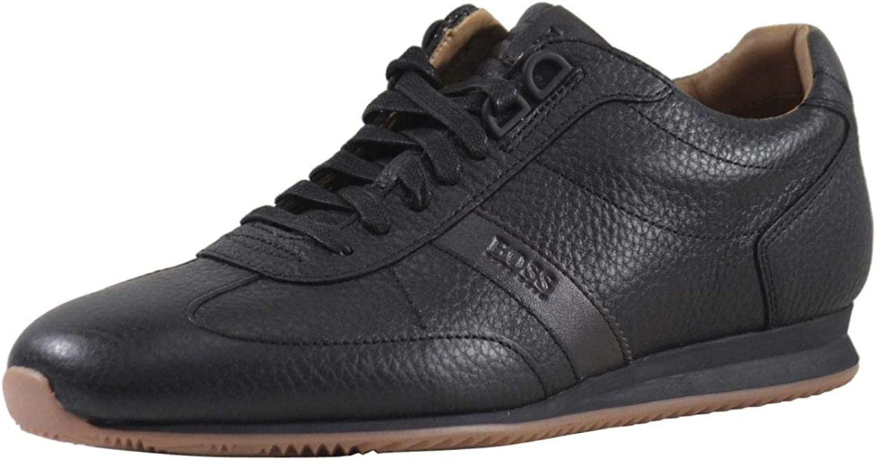 Hugo Boss Mens Orlando Tumbled Leather Sneaker