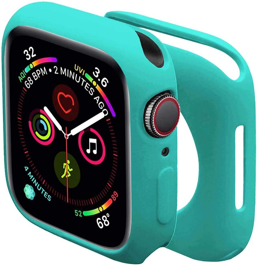 Sundo Compatible for Apple Watch Case Soft TPU Thin Lightweight Protective Bumper Cover Guard Accessories for Smartwatch(Mint Green,Series 3/2 38mm)