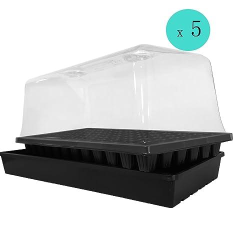 TopoLite - Bandeja de semillas de 72 celdas, bandeja plana + ...