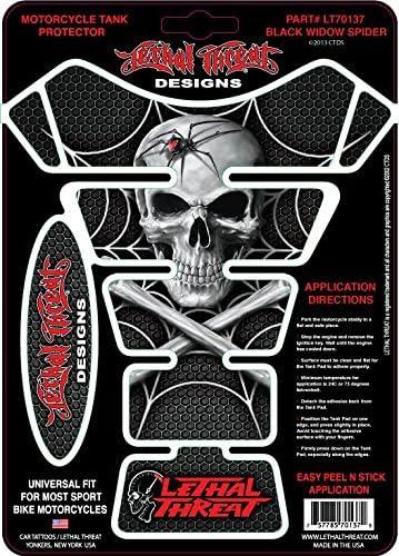 LETHAL THREAT Motorcycle Bike Motorbike TANK PAD Protector SPIDER SKULL LT70137