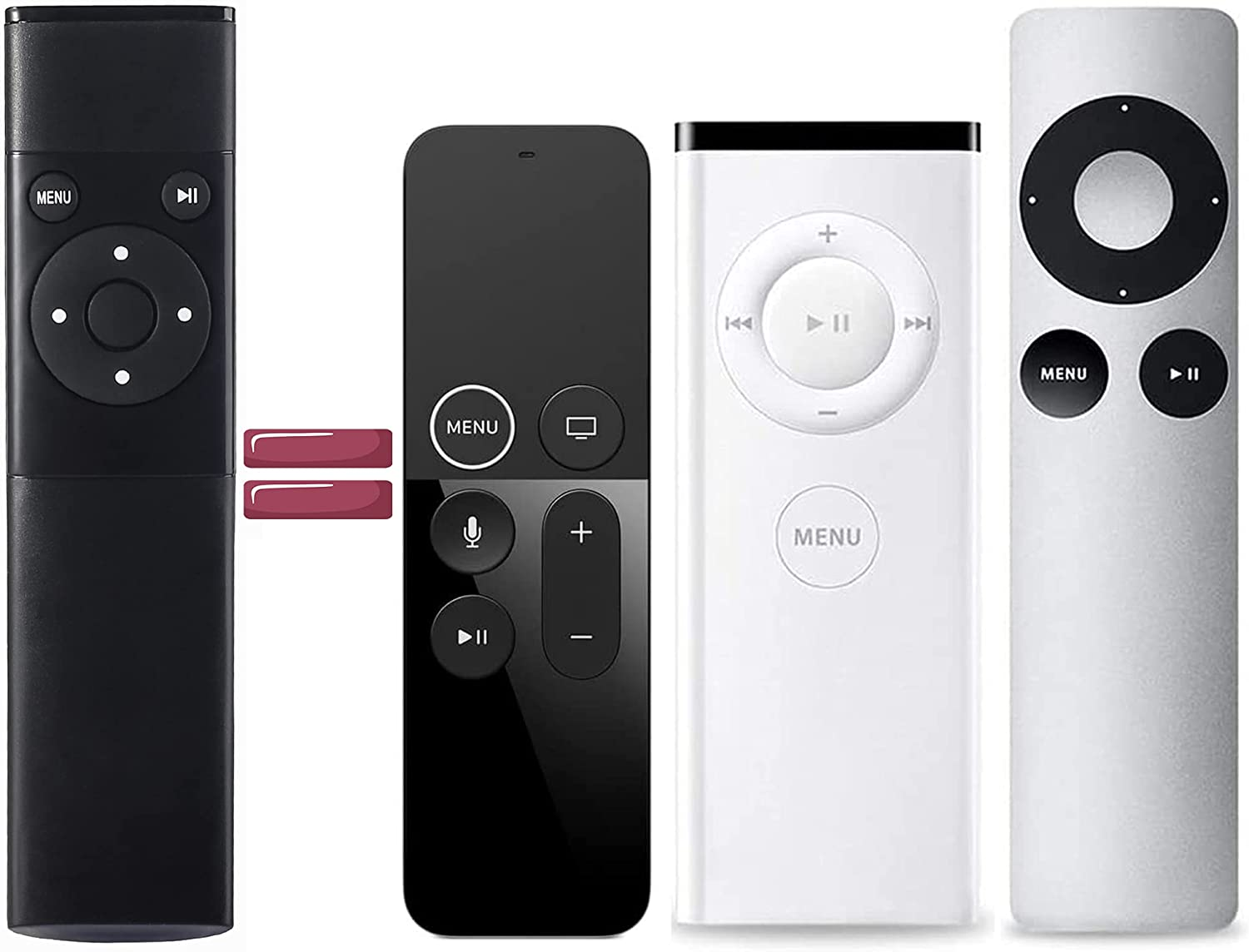 New Infrared Remote Control MC377LL/A for Apple 2/3 TV Box A1294 A1156, for Apple TV4 4K A1962 A1842/MQD22/MP7P2 A1469 A1427/MD199 A1378/MC572 A1218/MA711 MM4T2AM/A A1625/MGY52/MLNC2 Mac Music System