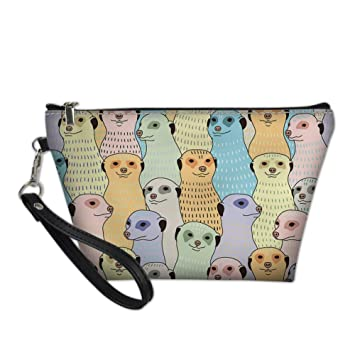 d1b25b443ad2 Amazon.com : FANCOSAN Cheeky Ferrets Puzzle Womens Make Up Bags ...