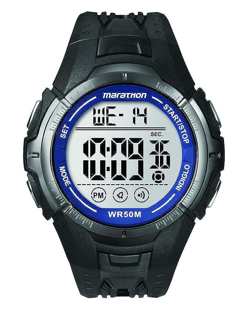 Timex Marathon - Reloj Digital de Cuarzo para Hombres, Correa de Goma, Color Negro