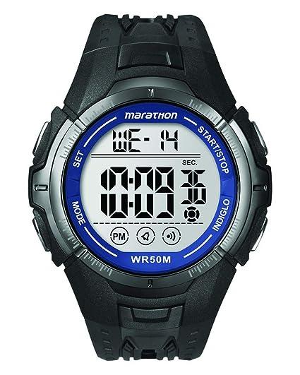 Timex Marathon - Reloj digital de cuarzo para hombres, correa de goma, color negro: Timex: Amazon.es: Relojes