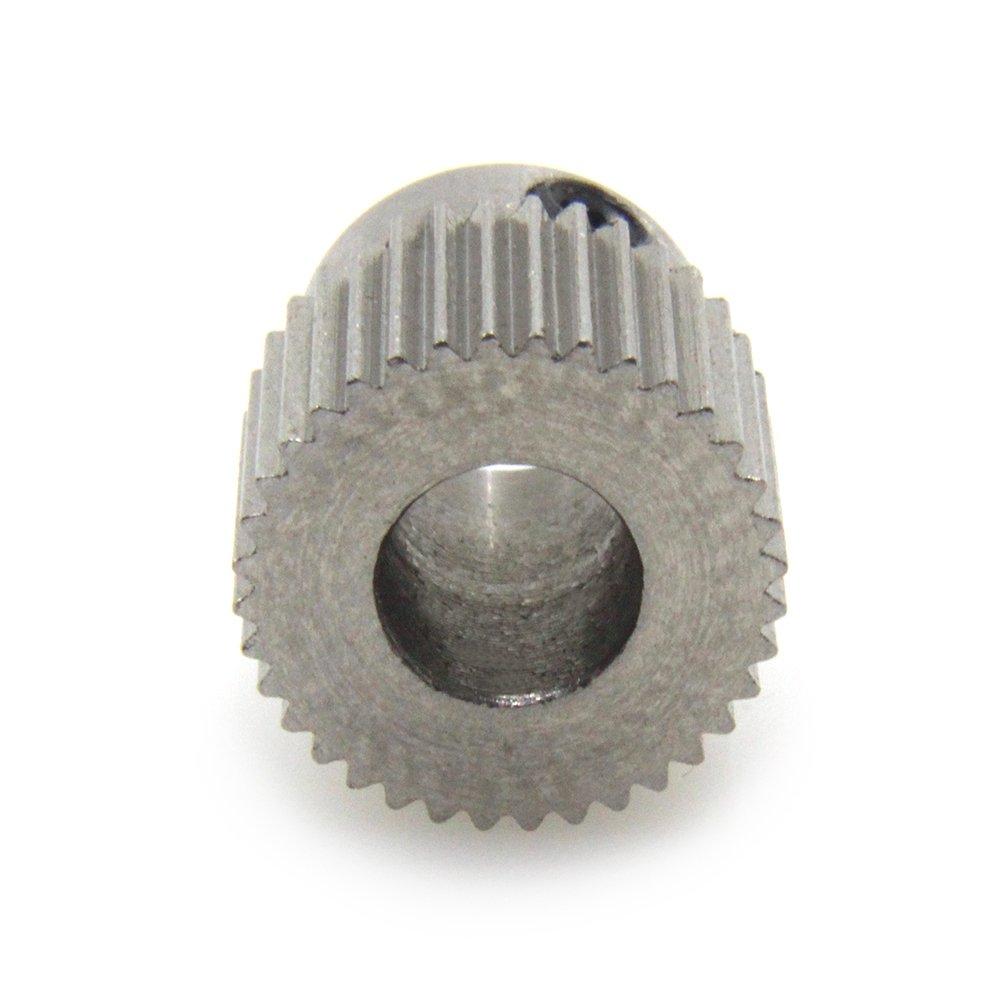 acier inoxydable Biqu poulie dextrudeuse 40 dents cylindre 5 mm engrenage dentra/înement laiton pour filament dimprimante 3D 1,75 mm et 3 mm lot de 5 5