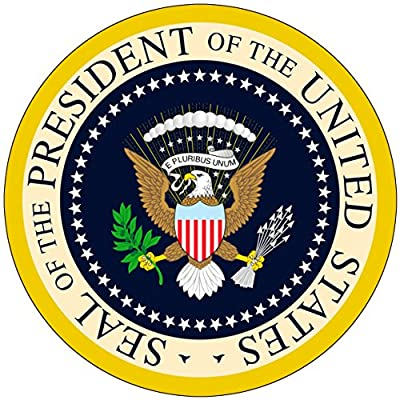 Chic 3 in 1 US President Seal Jumbo Badge Button Pin 3.75 Inches