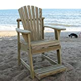 Cheap Weathercraft Designers Choice Treated Balcony Adirondack Chair with Footrest – Natural
