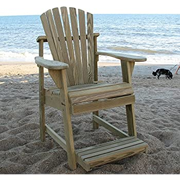 Bon Weathercraft Designers Choice Treated Balcony Adirondack Chair With  Footrest   Natural
