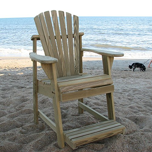 Weathercraft Designers Choice Treated Balcony Adirondack Chair with Footrest - Natural (Adirondack Patio Chair Footrest)