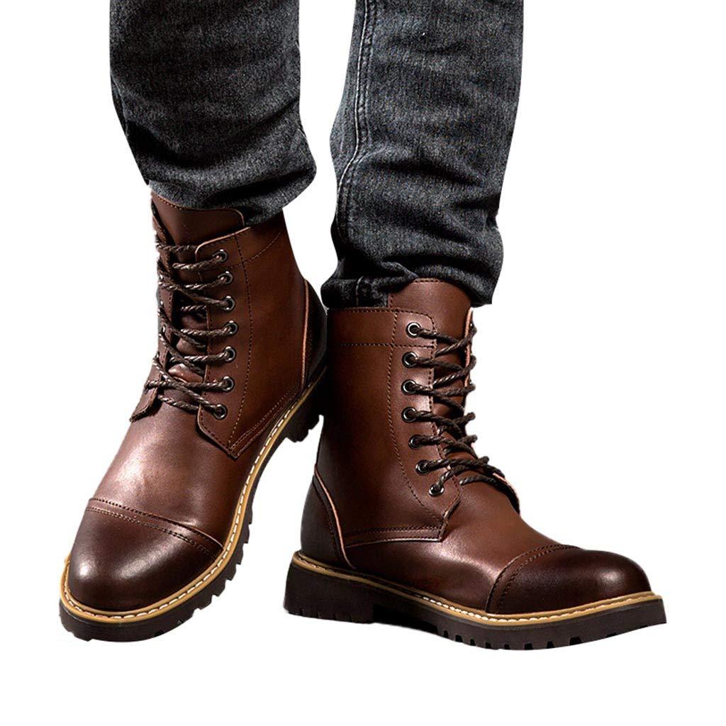 S&H-NEEDRA Chaussures Hommes, Chaussures Outillage à Talons Plats Et Et Et à Talons Arrondis pour Hommes De Style RéTro pour Garder Au Chaud Les Bottes Militaires da0020
