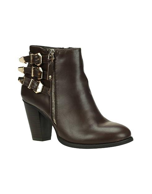 C M Paris-Botines con tacón-Botas para mujer, color marrón, Marrón (marrón), 38 EU: Amazon.es: Zapatos y complementos