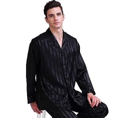 9fb2bf9583 SIHA Long Sleeve Silk Pajamas Men at Amazon Men s Clothing store