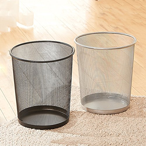 AiLi 2 Trash Cans, Home Barbed Wire Trash Cans Waste Paper Basket Kitchen Bathroom Bedroom Trash Can