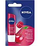 NIVEA Cherry Shine Tinted Caring Lip Balm Stick, 4.8g