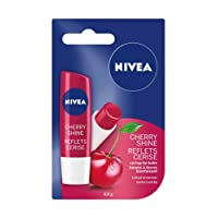 NIVEA Cherry Shine Tinted Shimmer Caring Lip Balm Stick, 4.8 g
