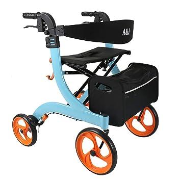 Andadores para discapacidad rollator de Cuatro Ruedas con aleación ...