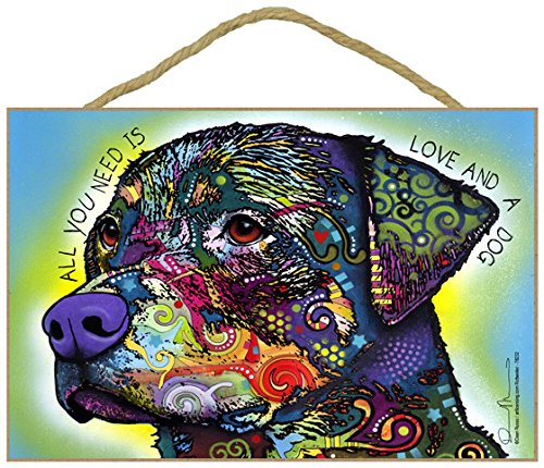 Original Dog Pop Art - (SJT78232) Rottweiler - All you need is love and a dog 7