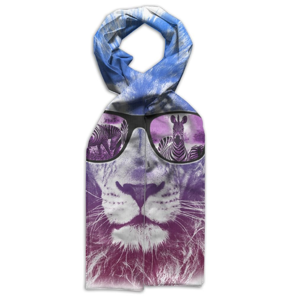 Lion With Dark Glasses Children Gift Box Colorful Beautiful Warm Scarf