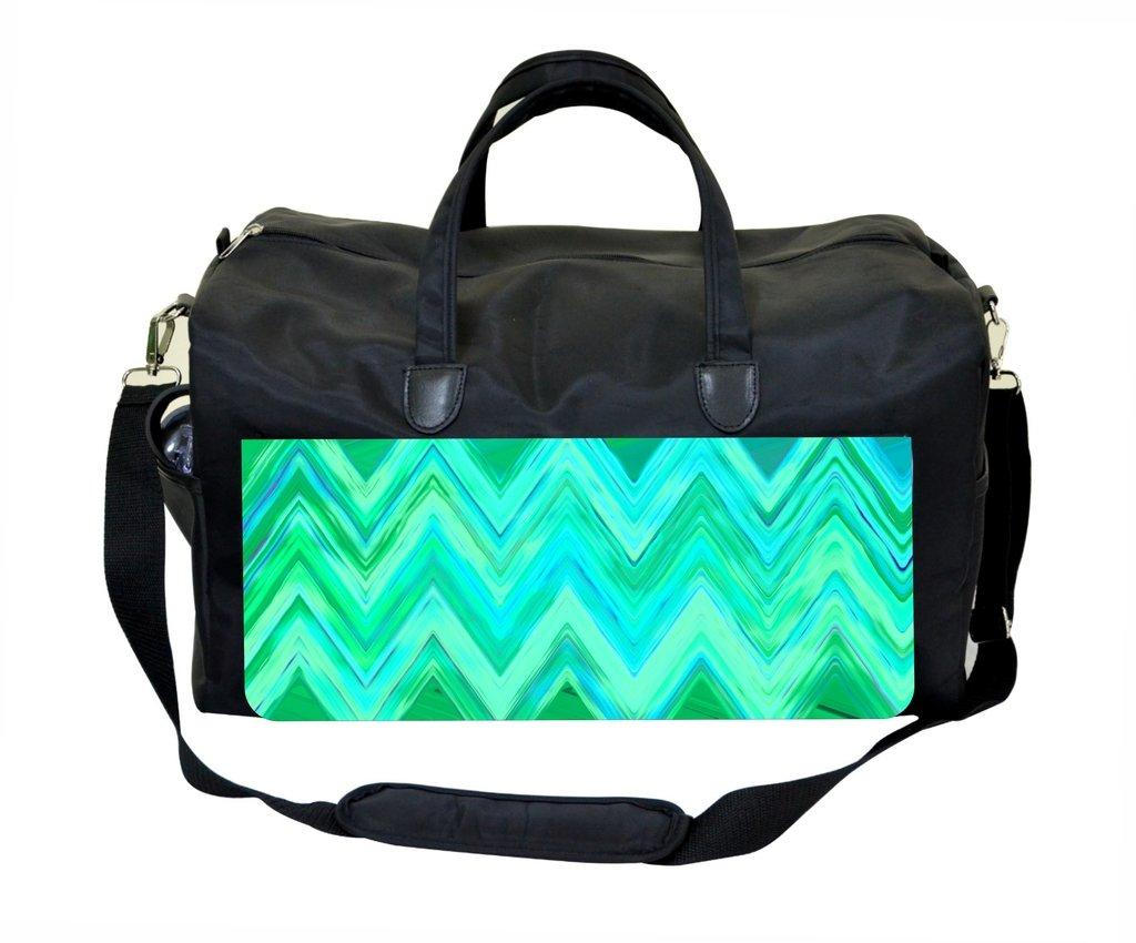 Green Chevrons Gym Bag