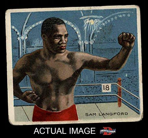 1910 T218 Champions # 124 Sam Langford (Baseball Card) Dean's Cards 2 - GOOD