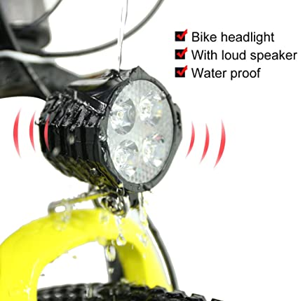 2 in 1 Headlight Front Light Led Lamp Horn for Electric Bicycle E-Bike Electric