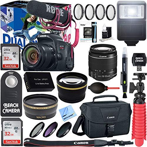 (Canon EOS Rebel T7i Digital SLR Camera Video Creator Kit + 18-55mm Zoom Lens Accessory Bundle (18-55mm Lens Video Creator Kit))