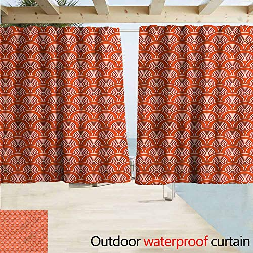 MaryMunger Thermal Insulated Blackout Curtains Geometric Kimono Motifs Pattern Simple Stylish Waterproof W63x72L Inches ()