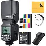 Godox V860II-C TTL-Blitz 2.4G Drahtlose E-TTL II Li-on Akku Kamera Blitz Speedlite für Canon Kamera 6D 50D 60D 1DX 580EX II 5D Mark II III + LETWING Objektiv Tuch (V860II-C)