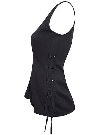 96285ce069 Next Ladies Lace up Corset Side Peplum TOP Dusky Blue Black EX Stores 6-22   Amazon.co.uk  Clothing