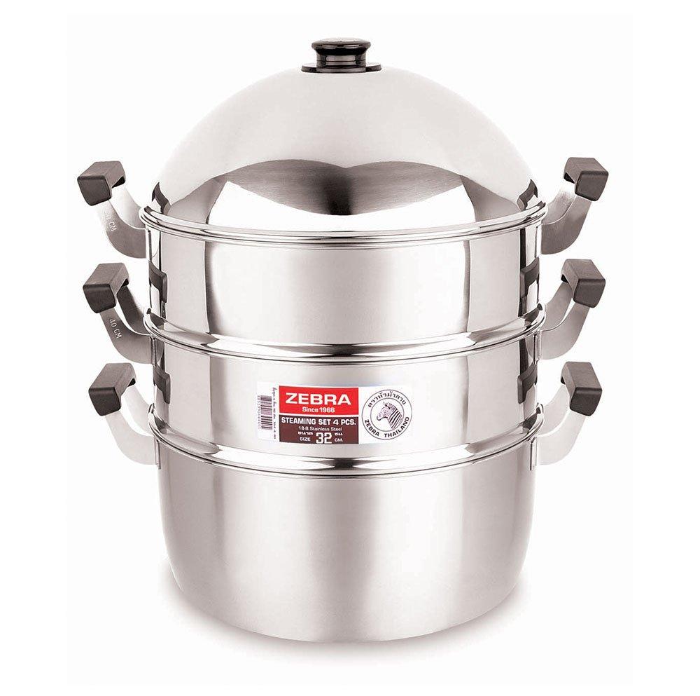 Zebra Steamer Set Stainless Steel Premium High Quality (32 CM)