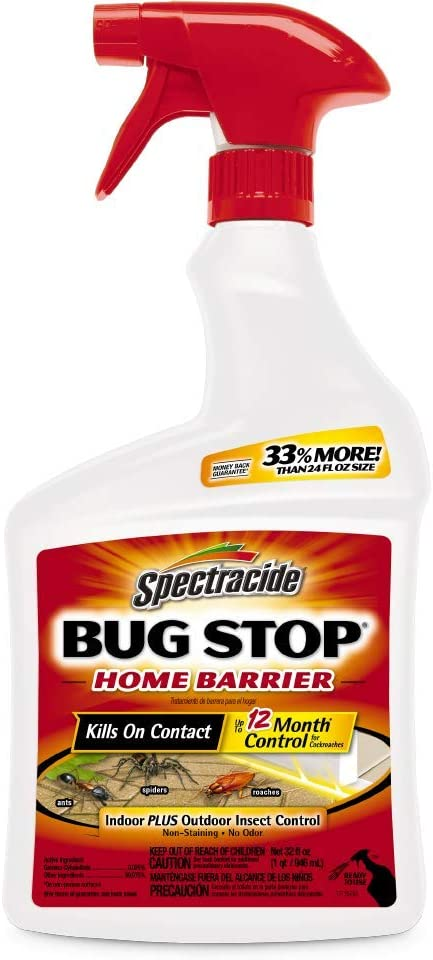 Spectracide Bug Stop Home Barrier Spray, Ready-to-Use, 32-Ounce