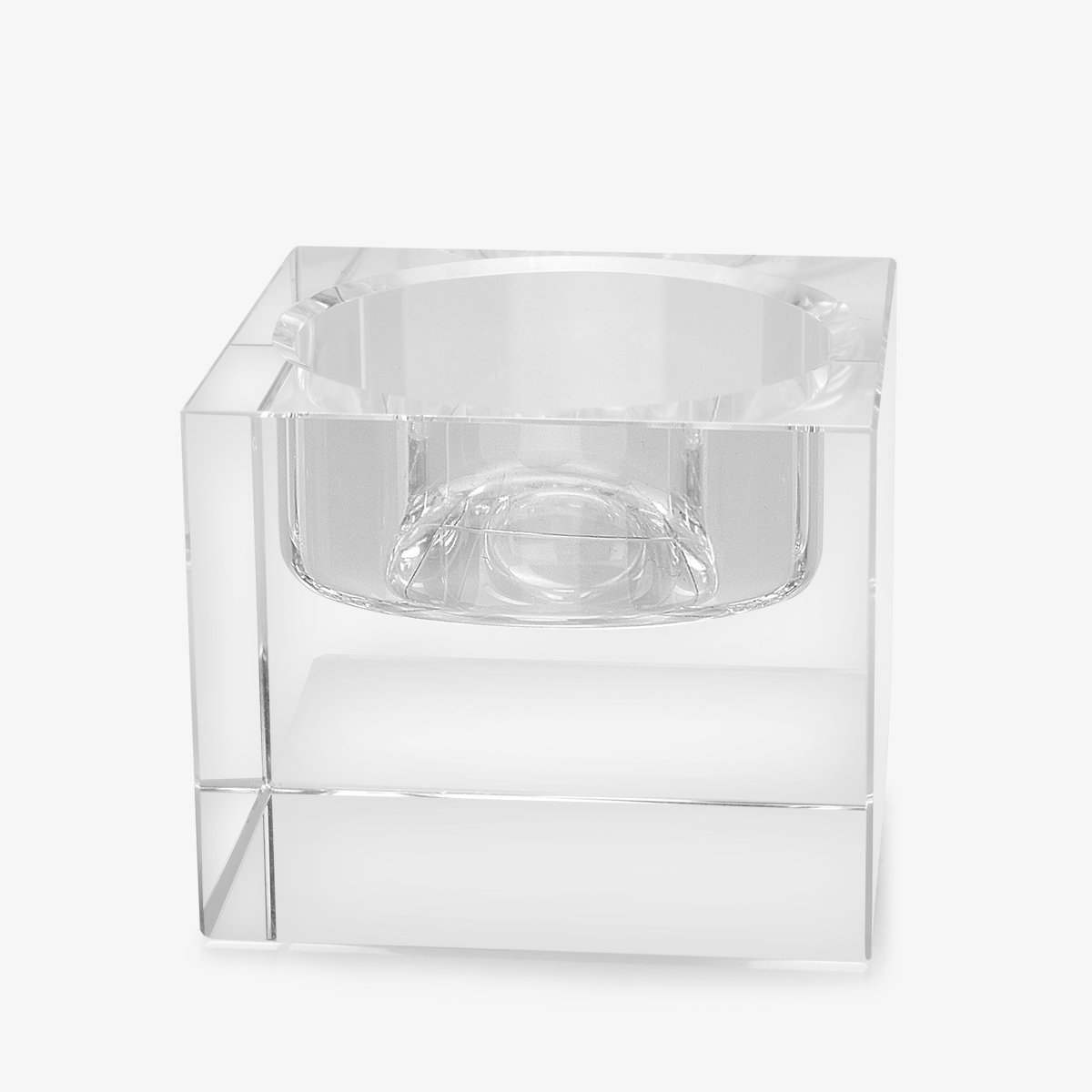 Crystal Candle Holder Modern Clear Square Candlestick for Birthday/ Anniversary Celebration/Wedding Home Decor Candlestick Home Kitchen(1.97/1.97/1.57)