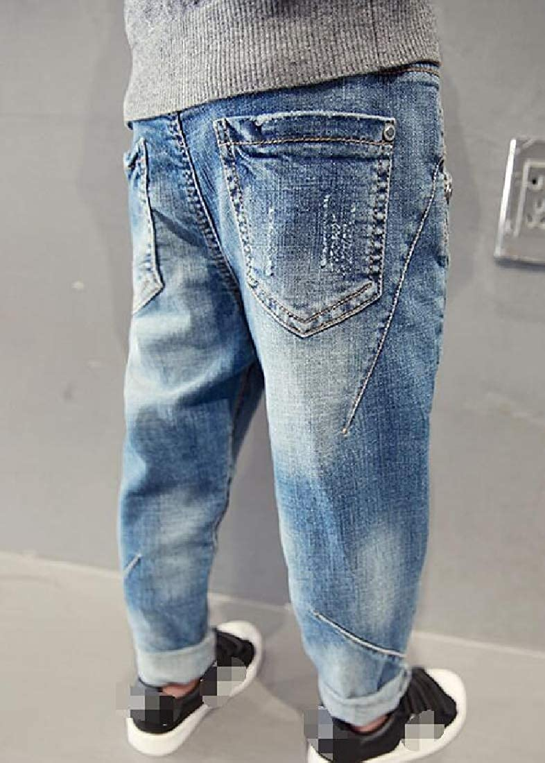 Lutratocro Boys Casual Trousers Jean Denim Ripped Cute Pants