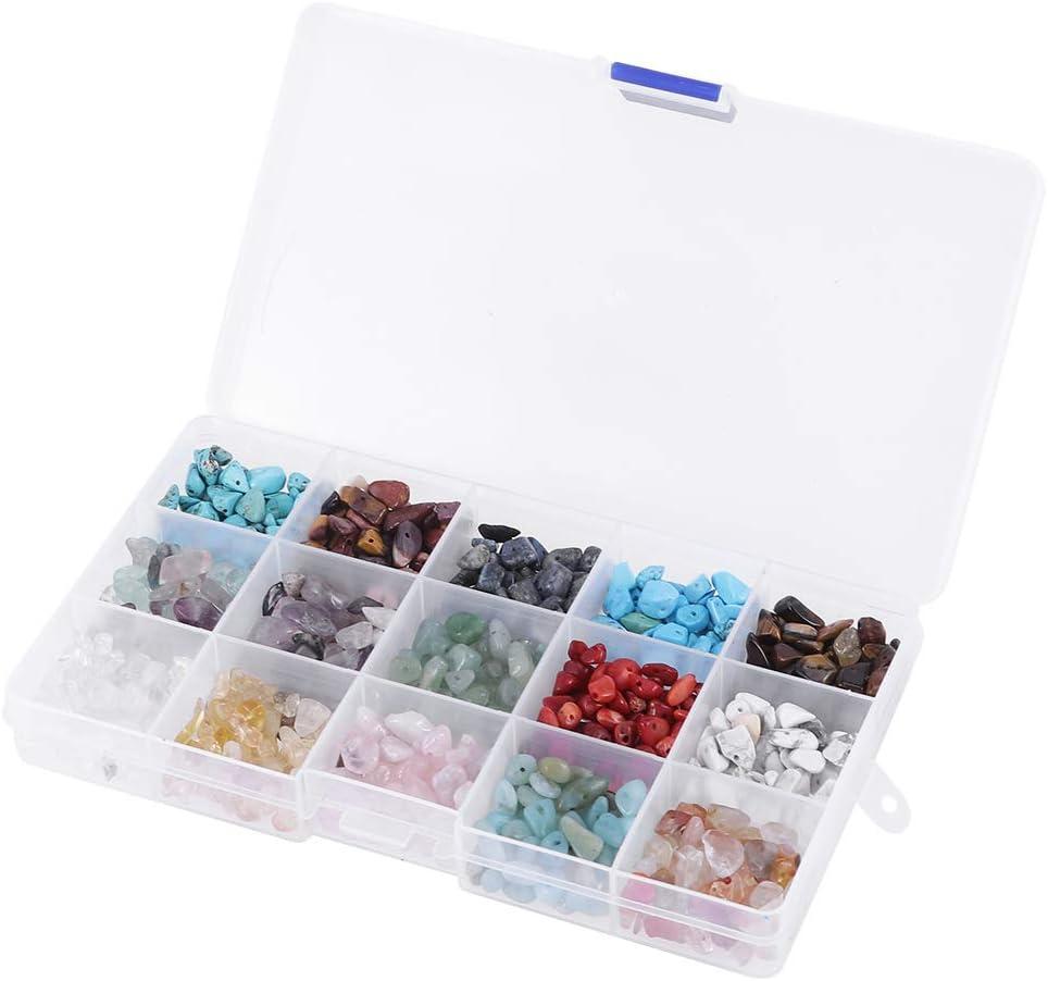 SUPVOX 24 Granos de piedra Granos de piedras preciosas naturales Chips irregulares Piedras trituradas piezas de cristal trozos granos sueltos para la joyería