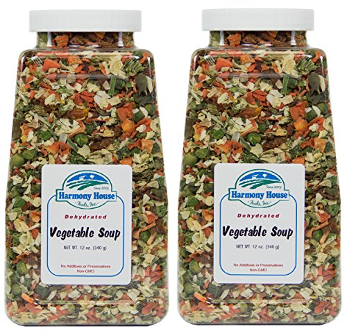 Harmony House Foods, Dried Vegetable Soup Mix (12 Oz Quart Size Jar) - Set of 2 (Best Foods For Disaster Preparedness)