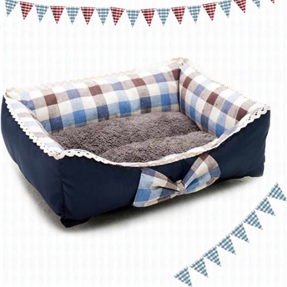 B Large B Large Weiwei Pet Supplies Mat Dog Bed cat Litter Fresh Art Butterfly Knot pet Nest