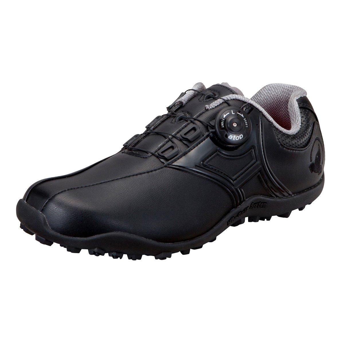 本間ゴルフ HONMA メンズ スパイクレス ダイヤルシューズ ブラック/ブラック 26cm 3E SR-1604 原産国:中国 素材:甲(人工皮革) 、底(合成ゴム) B077HQ348M