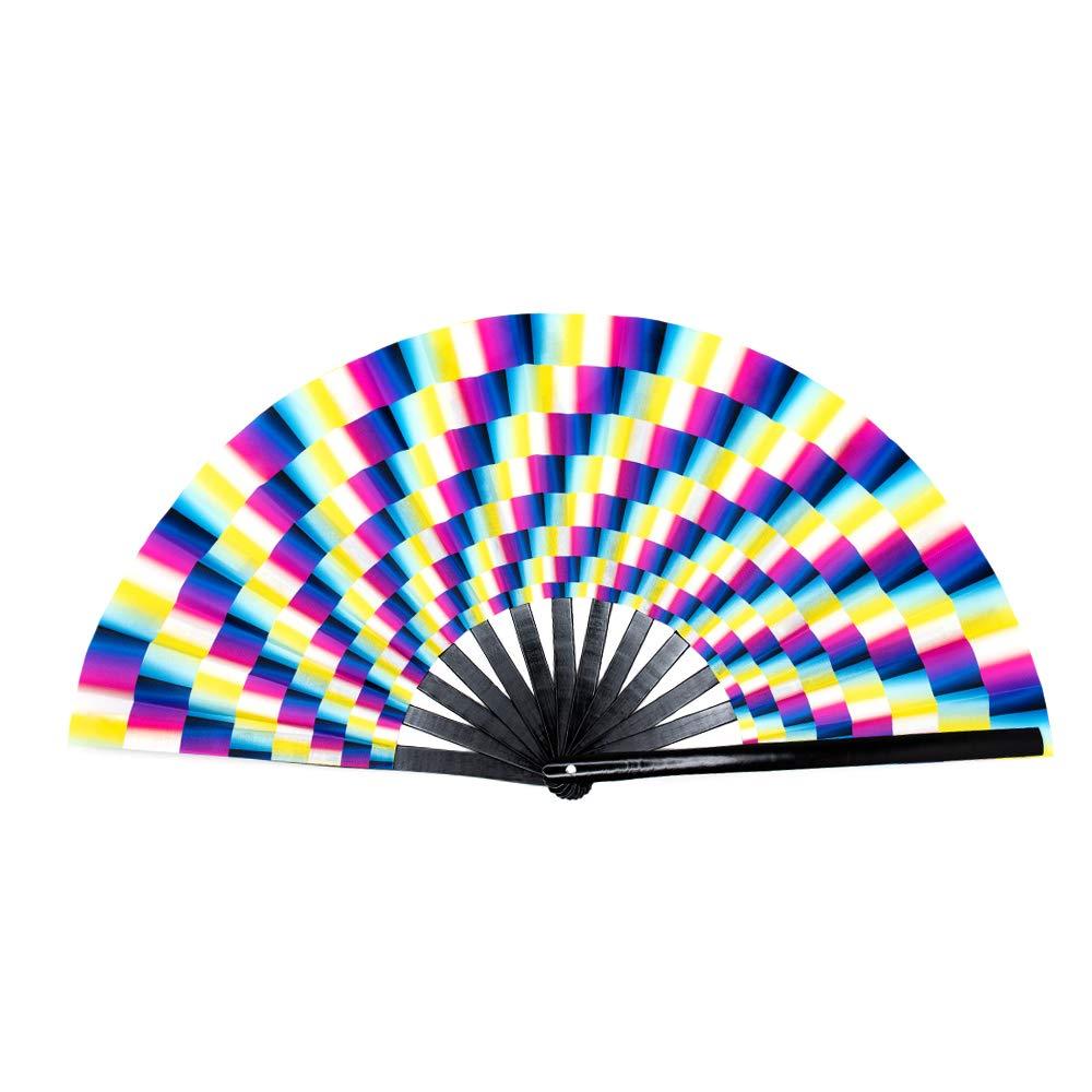 Rave Festival Accessories Performance Decoration Japanese Hand Fan GloFX Folding Fans Alien