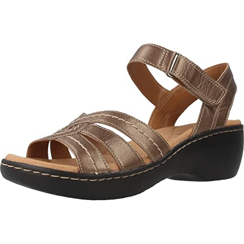 cf3dc4ab04b Clarks Women s Delana Varro Silver Leather Fashion Sandals - 5 UK India (38  EU)  Buy Online at Low Prices in India - Amazon.in