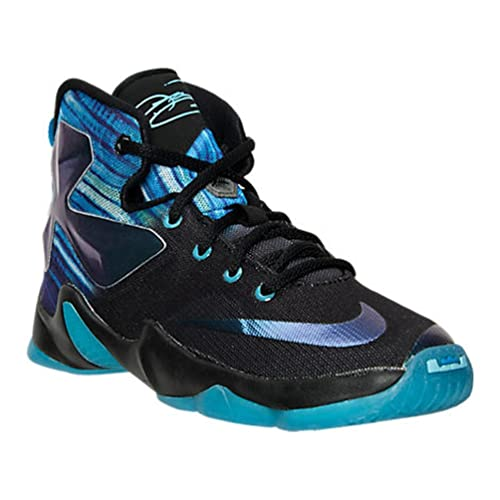 superior quality 2faa3 e082d Nike Boys Lebron 13 PS Black Heritage Cyan/White/Blue 3Y ...