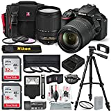 Nikon D5600 DSLR Camera with NIKKOR 18-140mm Lens W/ Total of 48 GB Memory Card + Filters + 4pc 67mm Macro Lens + Xpix Lens Handling accessories and Basic Bundle For Sale