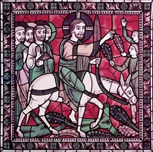 Posterazzi Christ And His Apostles Returning To Jerusalem 12th Century Stained Glass Chartres Cathedral France Poster Print (24 x 36)