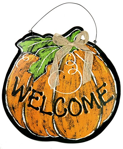 Bold Chalk-Style Autumn Pumpkin Welcome Sign with (Pumpkin Welcome Sign)