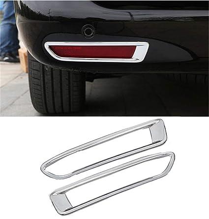 ABS cromado trasera antiniebla Luz L/ámpara de Coche 2pcs para coche accesorios