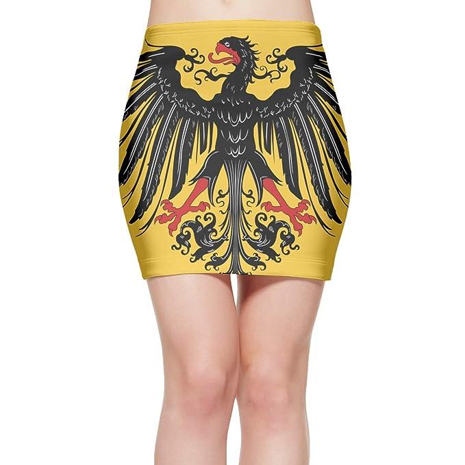 Amazon.com: Falda corta, elástica, diseño de la bandera del ...