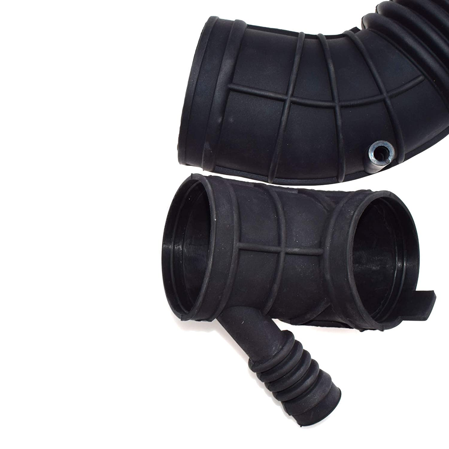 New 2pcs For BMWS E46 325i 330i 325xi 33xi 325Ci 325Xi Z3 2001 2002 2003 2004 2005 2006 Intake Air Flow Boot Hose Pipe 13541438761,13541438759