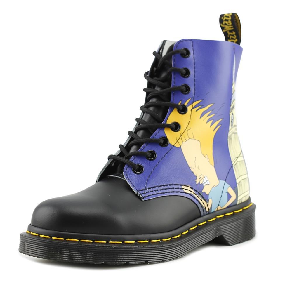 Dr. Martens Men's Pascal 8 Eye Boot B01ICDOOOY 13 F(M) UK / 14 D(M) US|Black/White B&b London Backhand/Smooth